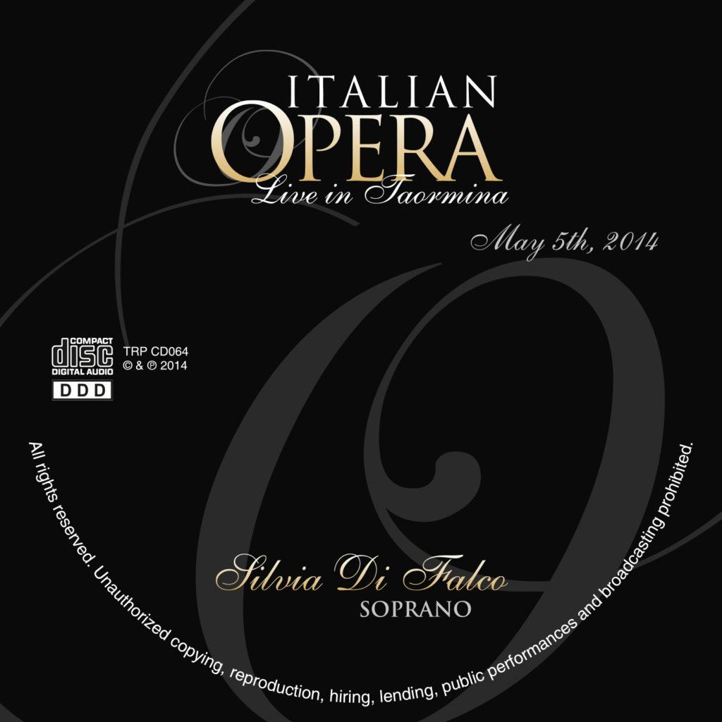 CD Silvia Di Falco, Soprano. Italian Opera Live in Taormina